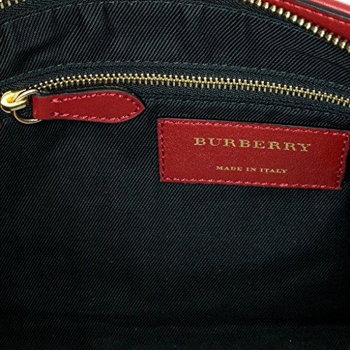 Polyamide 5 à et Or Rouge Sac Rouge main 3992861 Check cm Femme Burberry 8x17x31 Burberry UpdxIO