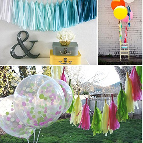Foil Gold Letter Banner 20 Pcs Tissue Paper Tassels Tassel Garland Banner Kit with 100 PCS Pink Balloons Baby Banner Balloons Party Decoration