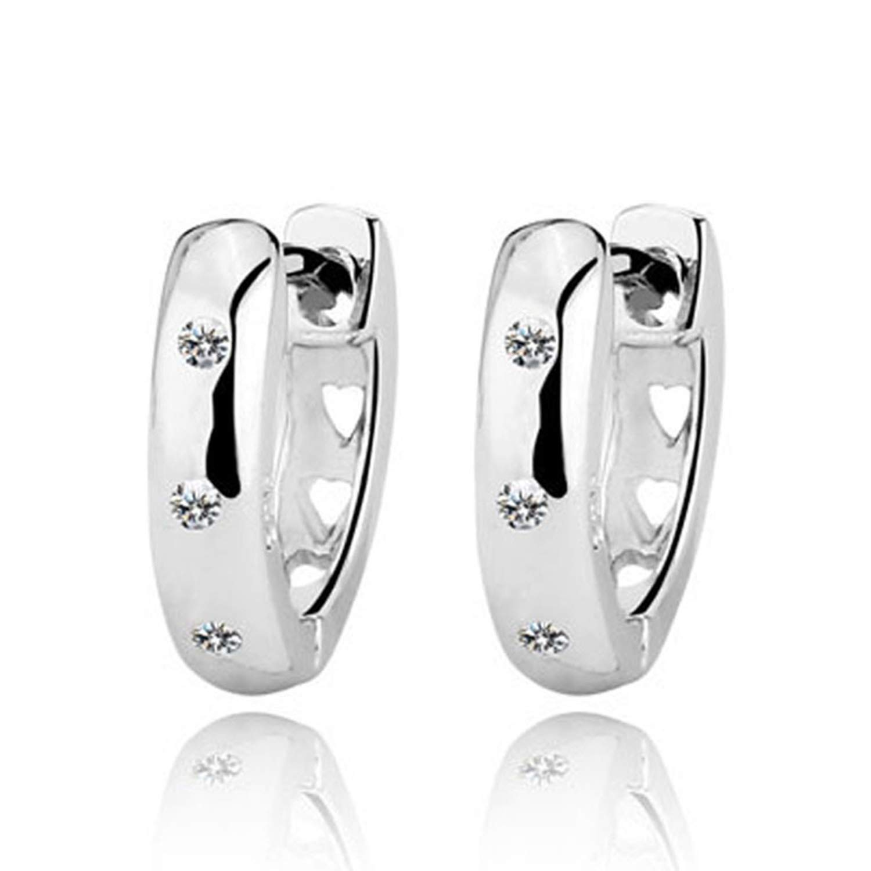 925 Sterling Silver Jewelry Gift Elegant Accessories Women Fashion Lady Silver Stud Earrings