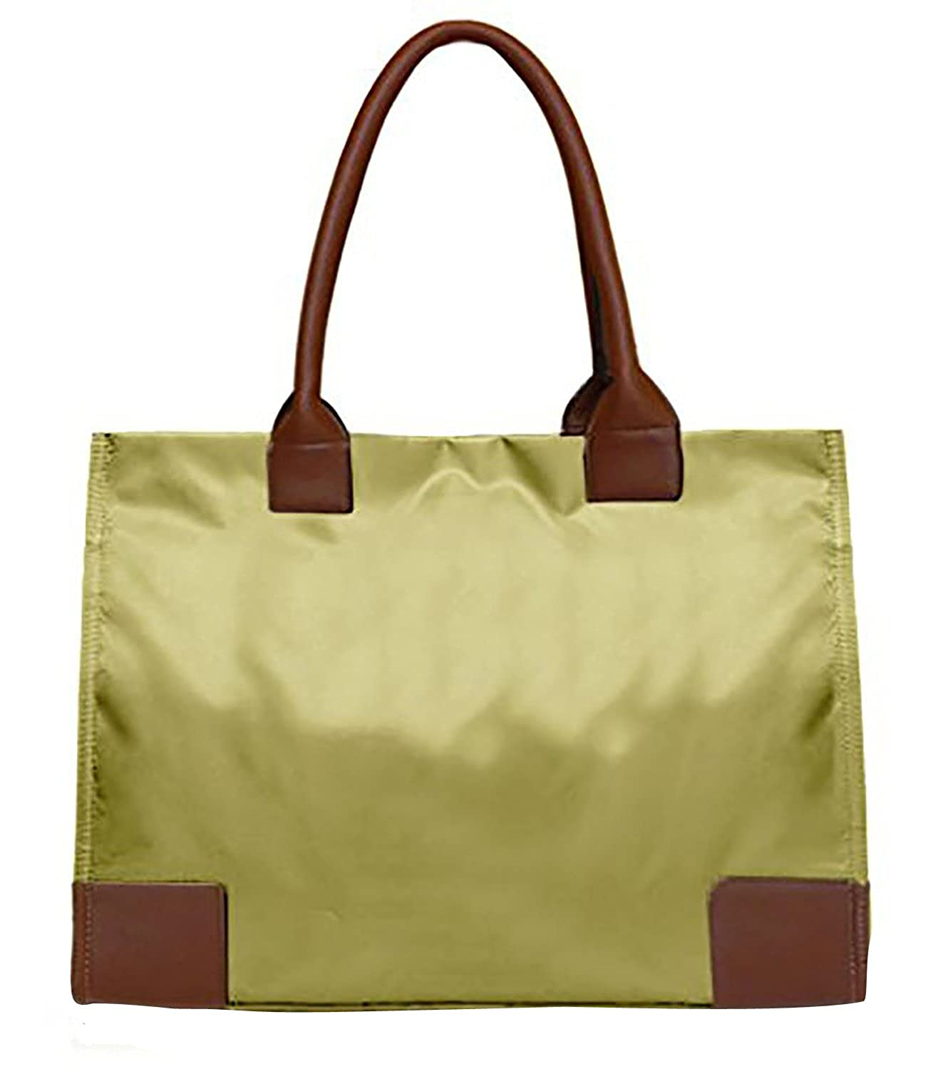 Peach Couture Luxury Nylon Waterproof Solid Shoulder Tote Bag Purse