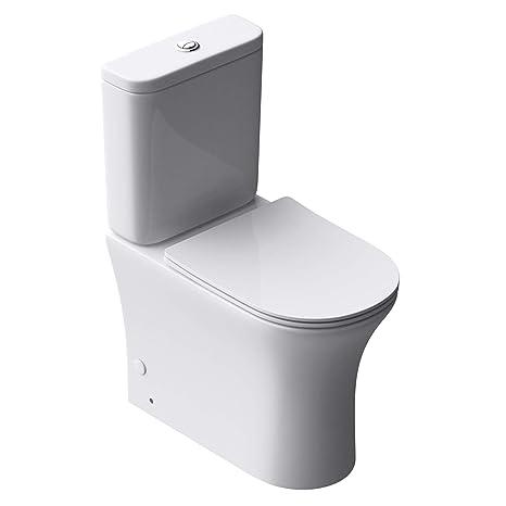 Sogood Design Stand-WC Toilette Aachen304T bodenstehend Tiefspüler mit  Silent-Close spülrandlose Toilette spülrandloses WC