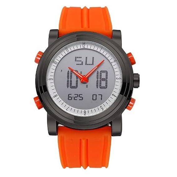 Skye Reker deportes cronógrafo de hombre muñeca relojes Digital 2 de cuarzo movimiento impermeable buceo reloj Top marca de lujo reloj de los hombres: ...