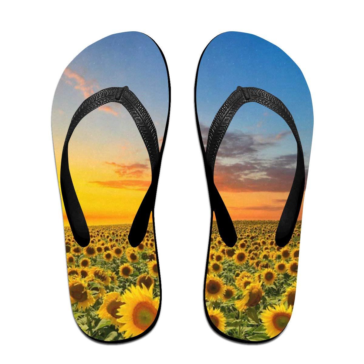 42151174bde5 Amazon.com  Flip Flops Sunflower Under The Sun Women s Summer Slippers  Thong Sandals For Teen  Shoes