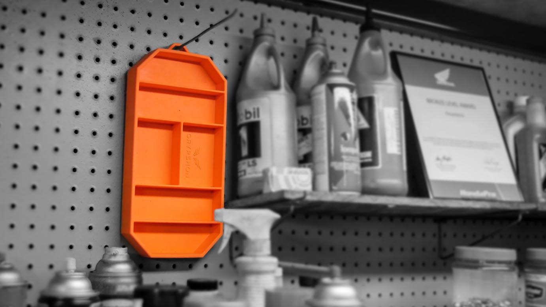 Grypmat | Non-Slip Flexible Orange Tool Tray | Tool Box Organizer | Socket Organizer | Tool Holder | Tool Mats | No Magnets | Easy Clean Up | As Seen On Shark Tank (Small) by Grypshon (Image #4)