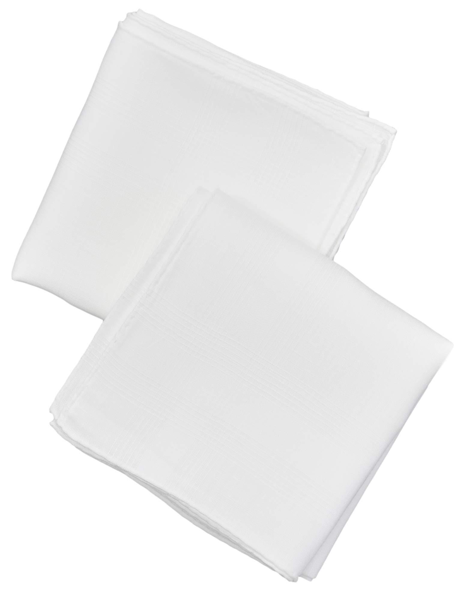 Thomas Ferguson – Gentlemen's Irish Linen Corded Handkerchief with Hand-rolled Hem, BH174 White (2 in Gift Box)