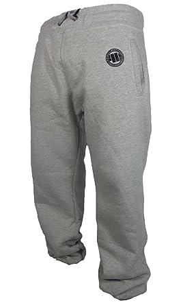 Pitbull Westcoast Jogginghose Logo Grau: : Bekleidung