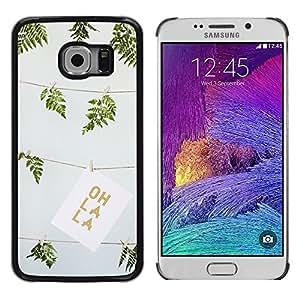 iKiki Tech / Estuche rígido - Green Summer Oh La Drawing Fern Art - Samsung Galaxy S6 EDGE SM-G925
