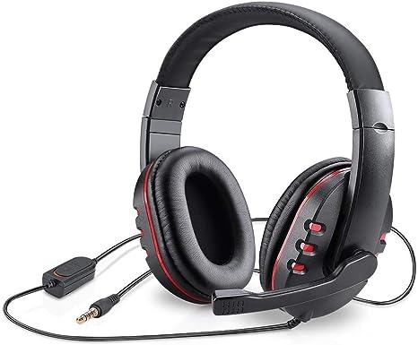 Picozon 3.5mm Plug Gaming Headset Auriculares con micrófono para PS4, Playstation Vita, Mac, Ordenador portátil, Tableta, computadora, teléfonos móviles: Amazon.es: Electrónica