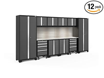 Beautiful NewAge Products 56019 Bold 3.0 12 Piece Set With Lights, Garage Cabinets In  Gray