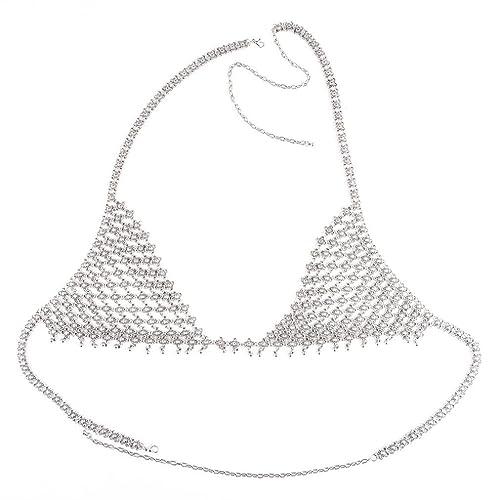 f8d80bd1cdcd40 Amazon.com  idealway Sexy Girls Body Jewelry Silver Fashion Body ...