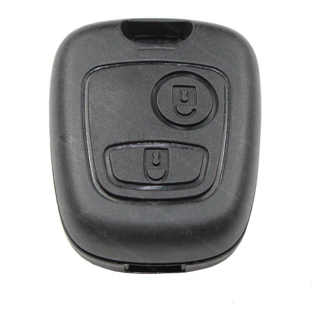 交換リモートエントリキーFobシェルケースRunbber Miniキーレス車のプジョー206 207 306 307 Aoto B01CFYRCPO
