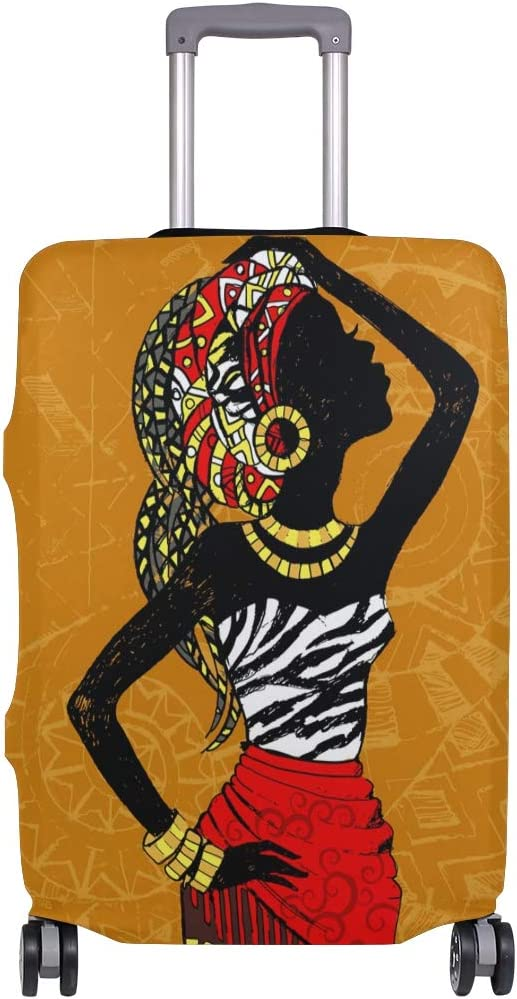 3D African Woman Print Luggage Protector Travel Luggage Cover Trolley Case Protective Cover Fits 18-32 Inch