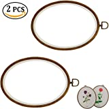 2PCS Ellipse Embroidery Hoop Cross Stitch Hoop Ring Embroidery Circle Sewing Kit Frame Craft Photo Frame