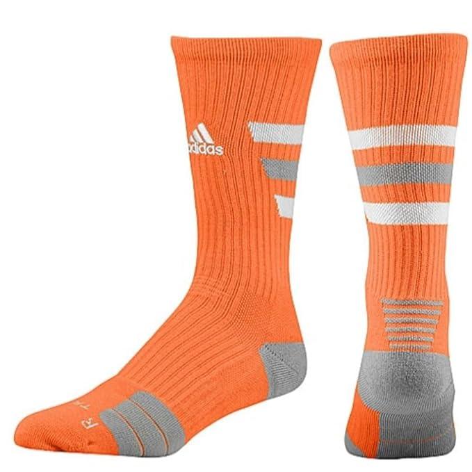 Adidas Team Speed Traxion Crew Socks - Large - Orange/Grey/White - 873