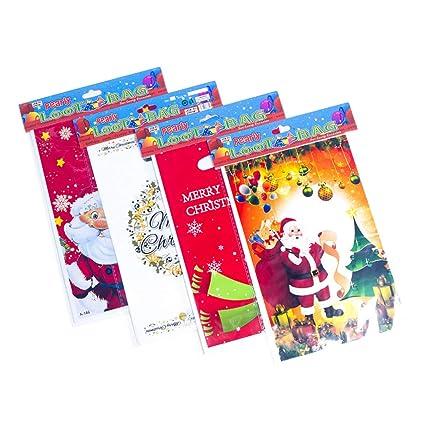 Amosfun bolsas de navidad desechables con asa bolsas de ...