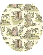 Toilet Tattoos, Toilet Seat Cover Decal,Outhouse Toile Design, Size Elongated