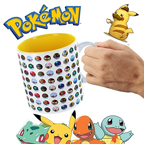 Official Lucario Costume (2-Pack Pokemon Go (20 oz Ounce) (591 ml) Pokeball Poke Ball Official Licensed Single Restaurant Instant Coffee Molded Mug & 8-Pack Bracelets - Pikachu Charmander Squirtle)