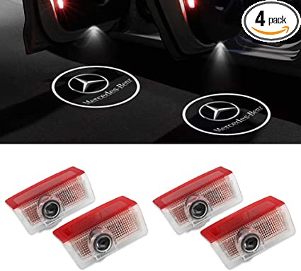 4-Pack Grolish Car Door LED Lighting Logo Lights Projector Courtesy Welcome Lights For Mercedes-Benz E Class