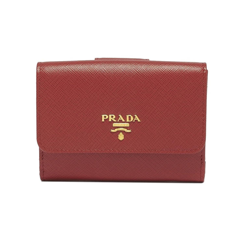(プラダ) PRADA 折り財布 Logo Leather Wallet 1MH523QWA レディース FUOCO F068Z B07DQCYMRB