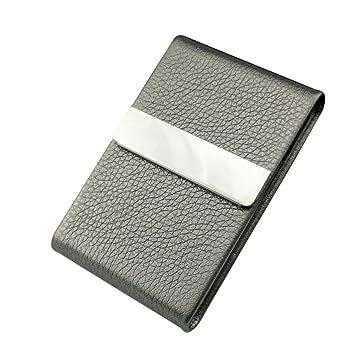 Amazon elegant business card holder sikye leather stainless elegant business card holdersikye leather stainless steel slim credit id business card case for colourmoves
