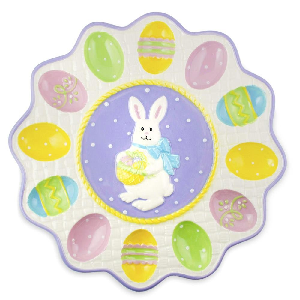 Easter Deviled Egg Plates Platters Ideas