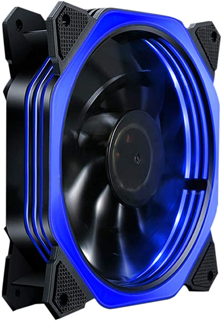 ❤️Byedog❤Multi-Color 12V Computer Case Supply Cooling with LED Light Silent Radiator Fan