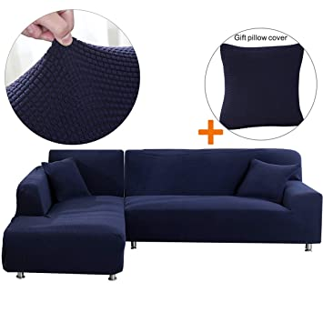 Sensational Sectional Sofa Cover 1Pcs Diy Buy Two For Complete Sofa L Couch Cover Soft Polyester Fabric Slipcovers Form Fit Stretch Furniture Inzonedesignstudio Interior Chair Design Inzonedesignstudiocom