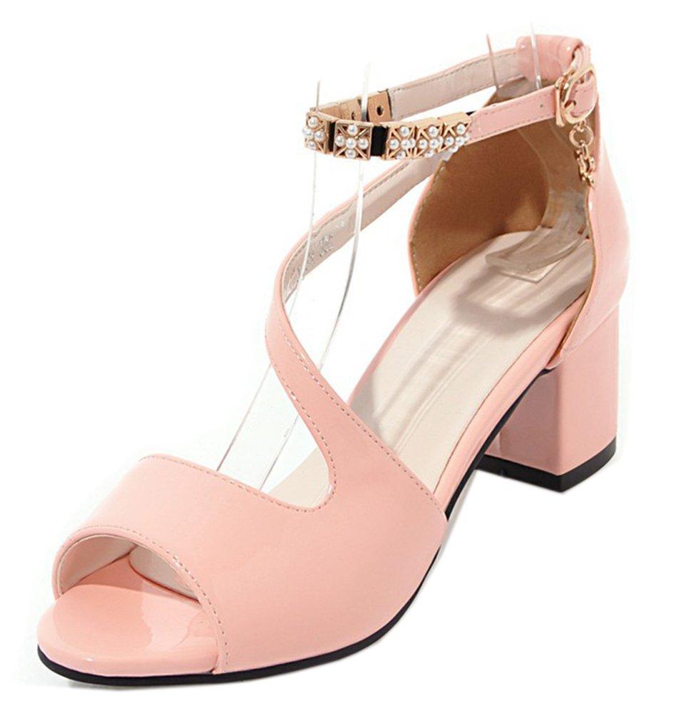 Easemax D Femme Mignon Métallique Peep Toe Chaussure Rose D Eté Chaussure Sandales Rose 5447197 - fast-weightloss-diet.space