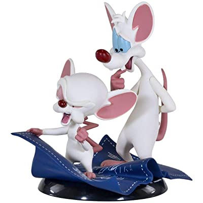 "QMx Warner Brothers Animated Pinky & the Brain Q-Fig Figure,Multi-colored,5"": Toys & Games"