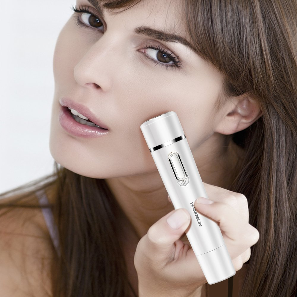 [3 in 1] Hangsun Facial Hair Removal for Women F130 Painless Face Epilator + Electric Eyebrow Trimmer + Bikini Hair Remover Precision Lady Shaver by Hangsun (Image #6)