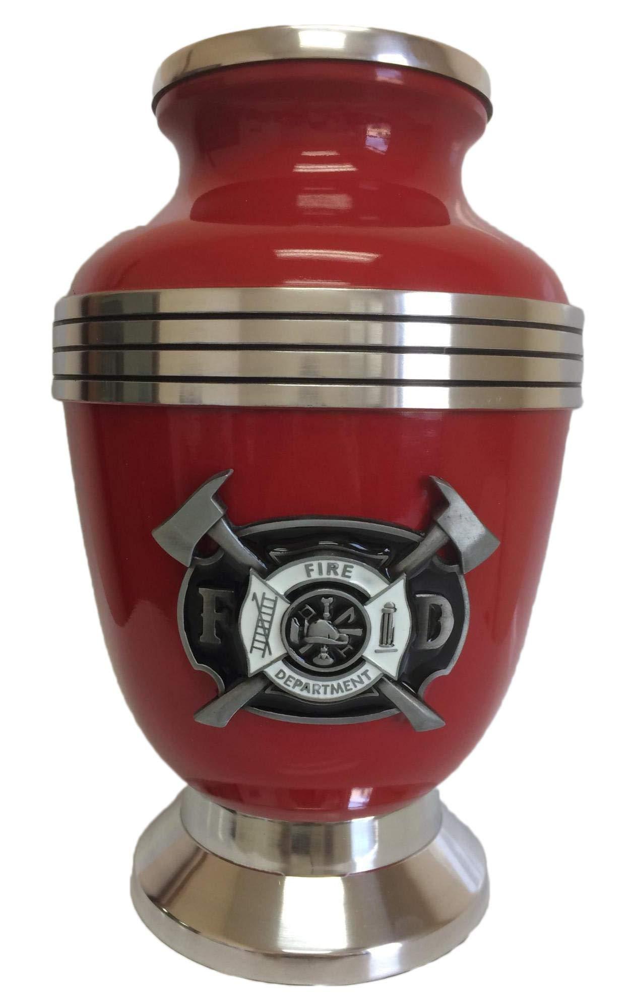 217 Firemens Fireman Firefighter Red Adult Memorial Cremation Urn