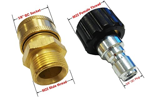 Ultimate Washer 1870A High Pressure Hose Quick Connect Kit Replaces Briggs /& Stratton 6191 and Apache 44048748 Metric Quick Disconnect Pressure Washer Adapter Replaces AP31040B and AP31041B 4000 PSI