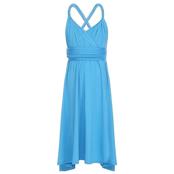85c77abb2d12 Kids Girls Wedding Bridesmaid Dress Convertible Multi Way Wrap ...
