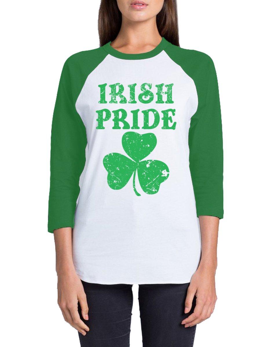 Awkward Styles Unisex Irish Pride ¾ Sleeve Baseball Shirt ST. Patrick's Day Gift Whitekelly M