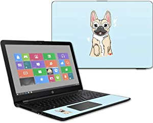 """MightySkins Skin Compatible with HP 15t Laptop 15.6"""" (2017) - Frenchie Love 