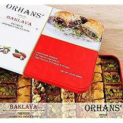 Premium BAKLAVA Bites 70 Pcs (23 oz/650g) ORHANSWEETS.COM