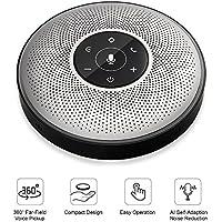 eMeet Bluetooth Speakerphone M2 Wireless Conference Speakerphone Business Conferencing Speakerphone 26ft Far-field Voice Recognition 360º Audio Pickup Cordless Speakerphone Office Speaker