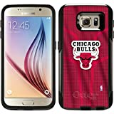 OtterBox Samsung Galaxy S6 Black Commuter Series Case with Chicago Bulls Jersey Design by Coveroo
