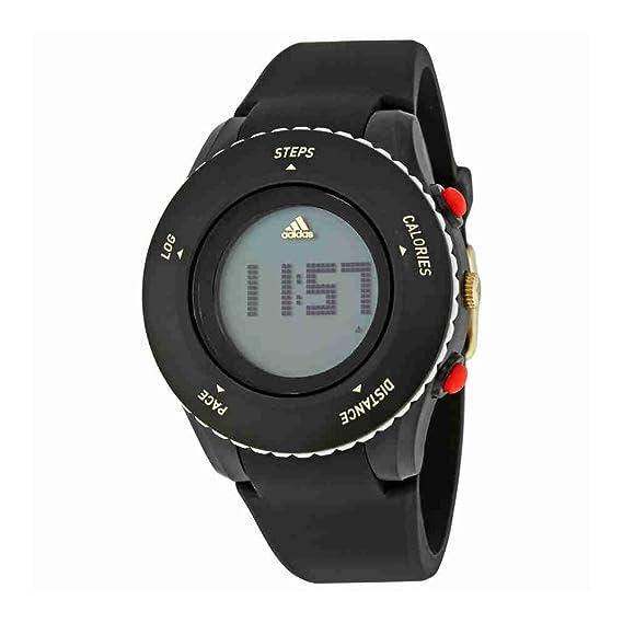 adidas Sprung Reloj de Cuarzo de plástico y Silicona, Color Negro (Modelo
