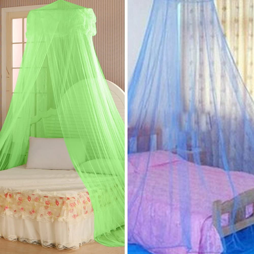 House Bedding Decor Summer Sweet Style Round Bed Canopy Dome Mosquito Net Green