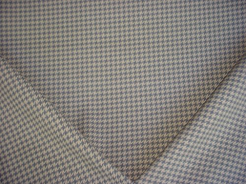 158H13 - Colonial Blue / Taupe Houndstooth Designer Upholstery Drapery Fabric - By the Yard -