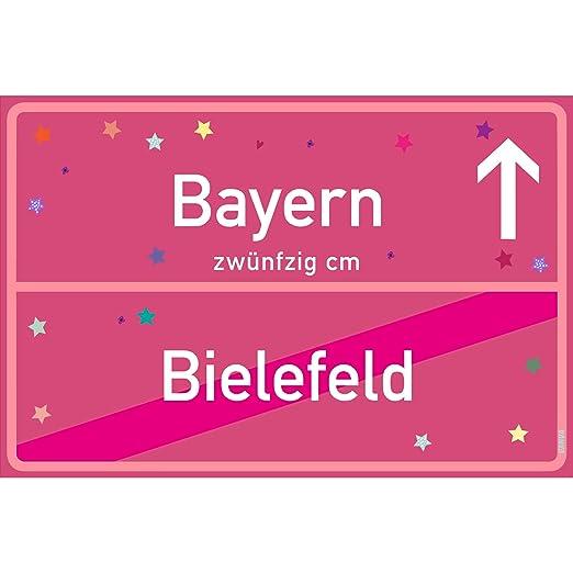 vanva Cartel Bayern Bielefeld Rosa Bayern-Ortsschild ...