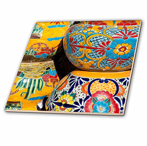 Danita Delimont - Pottery - Arizona, Tucson, Tubac. Traditional hand-painted Mexican pottery. - 12 Inch Ceramic Tile - Ceramic Floors Tile 4 U