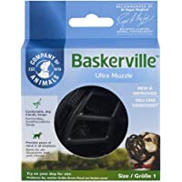 The Company Of Animals Baskerville Ultra Dog Muzzle, Size 1, Black (61120A)