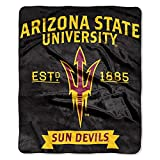 The Northwest Company NCAA Arizona State Sun Devils Label Raschel Throw, 50-Inch by 60-Inch