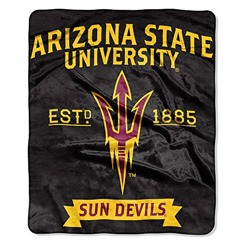 The Northwest Company NCAA Arizona State Sun Devils Label Raschel Throw, 50-Inch by 60-Inch (Arizona State Sun Devils compare prices)