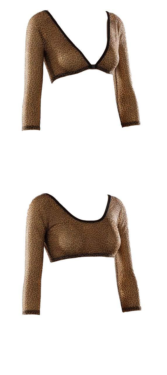 Sleevey Wonders Women's Basic 3/4 Length Mesh Sleeve Leopard Size X-Large by Sleevey Wonders