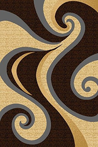 Artistry Rugs Premium 3D Hand Carved Modern 2x3 2x4 Rug Contemporary 327 Brown Beige Smoke - Perfect for The Living Room, Dining Room, Bedroom, Hallway - Rug Beige Classic Kashan