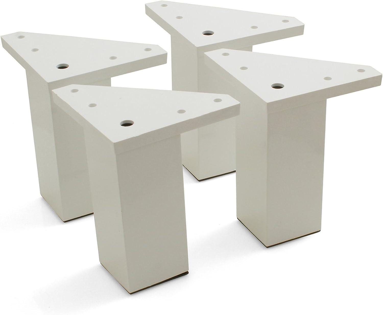 Design61 Juego de 4 Socket De Pie patas regulables para muebles armario de plástico soporte patas para muebles muebles del pie mesa cama pies 100 mm: Amazon.es: Bricolaje y herramientas