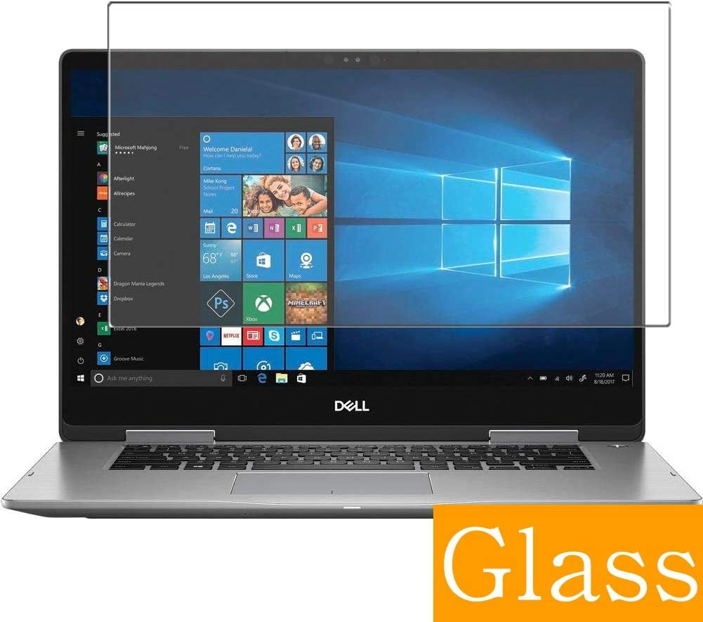 """Synvy Tempered Glass Screen Protector for Dell Inspiron 15 7000 (7573) 2-in-1 15.6"""" Visible Area Protective Screen Film Protectors 9H Anti-Scratch Bubble Free"""